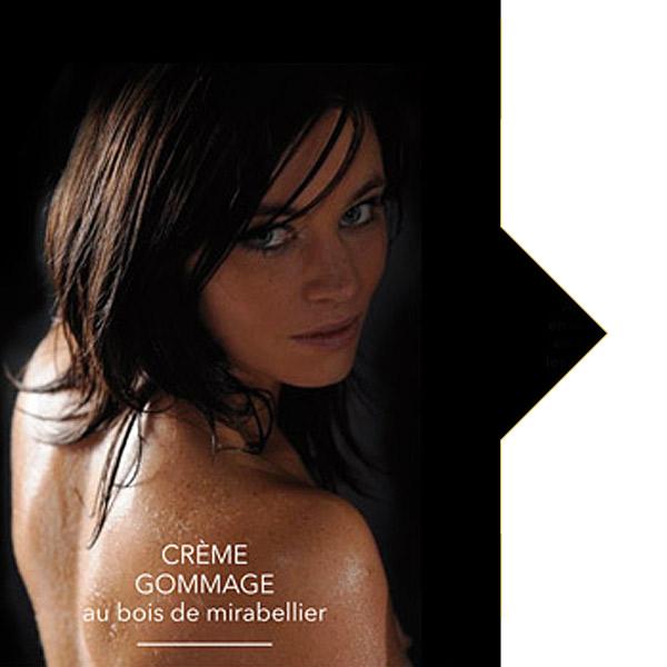 affiche pub Crème Gommage bois de mirabellier l'or du Verger